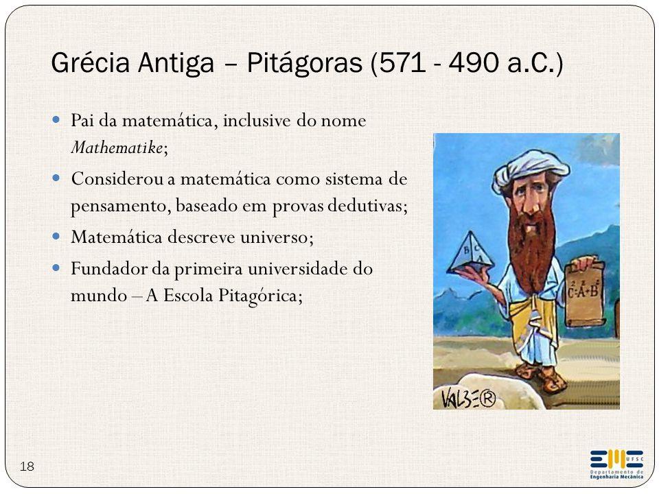 Grécia Antiga – Pitágoras (571 - 490 a.C.)
