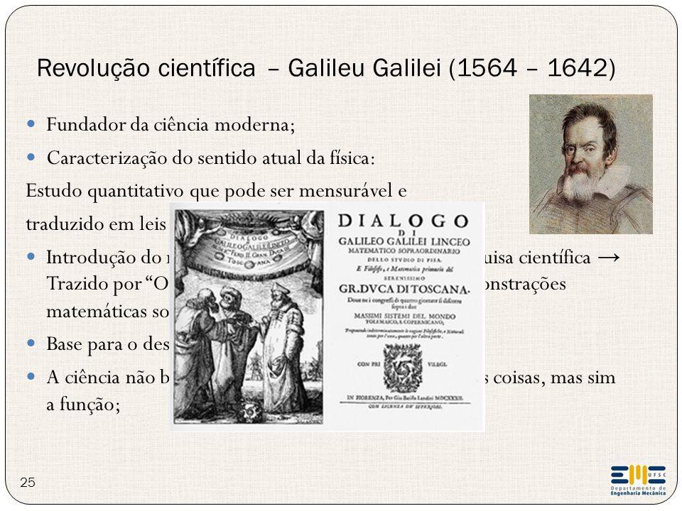 Revolução científica – Galileu Galilei (1564 – 1642)