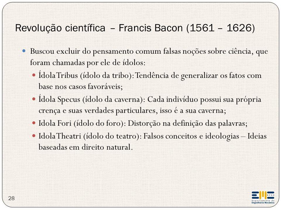 Revolução científica – Francis Bacon (1561 – 1626)