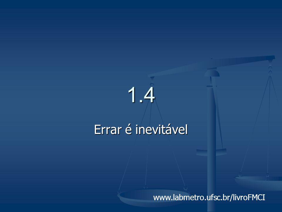 1.4 Errar é inevitável