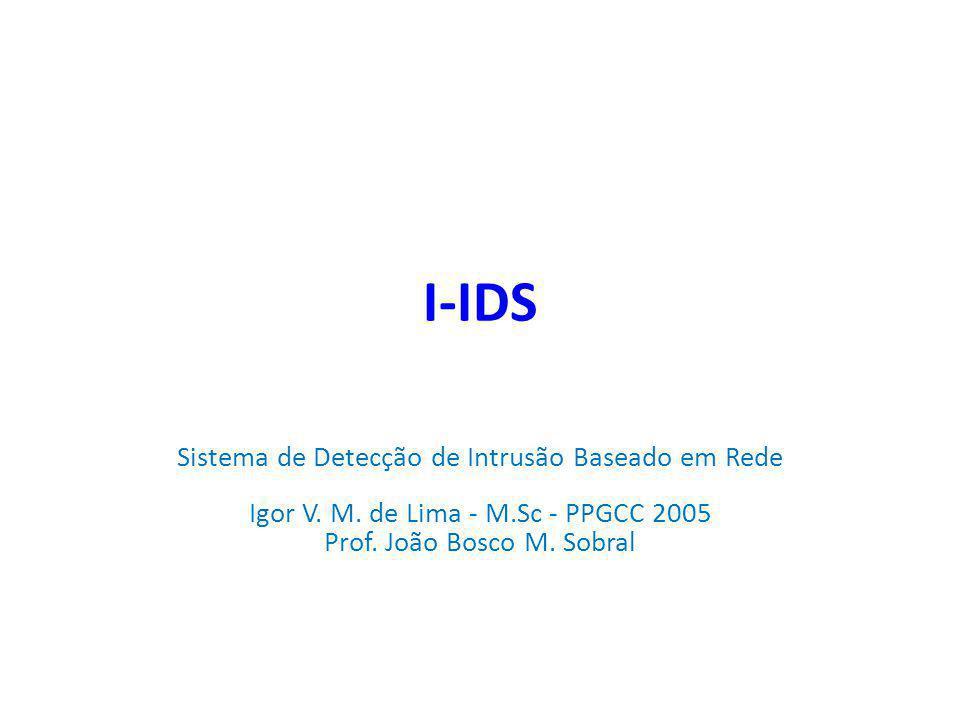 I-IDS Sistema de Detecção de Intrusão Baseado em Rede Igor V.