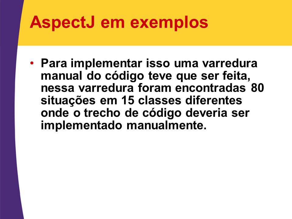 AspectJ em exemplos