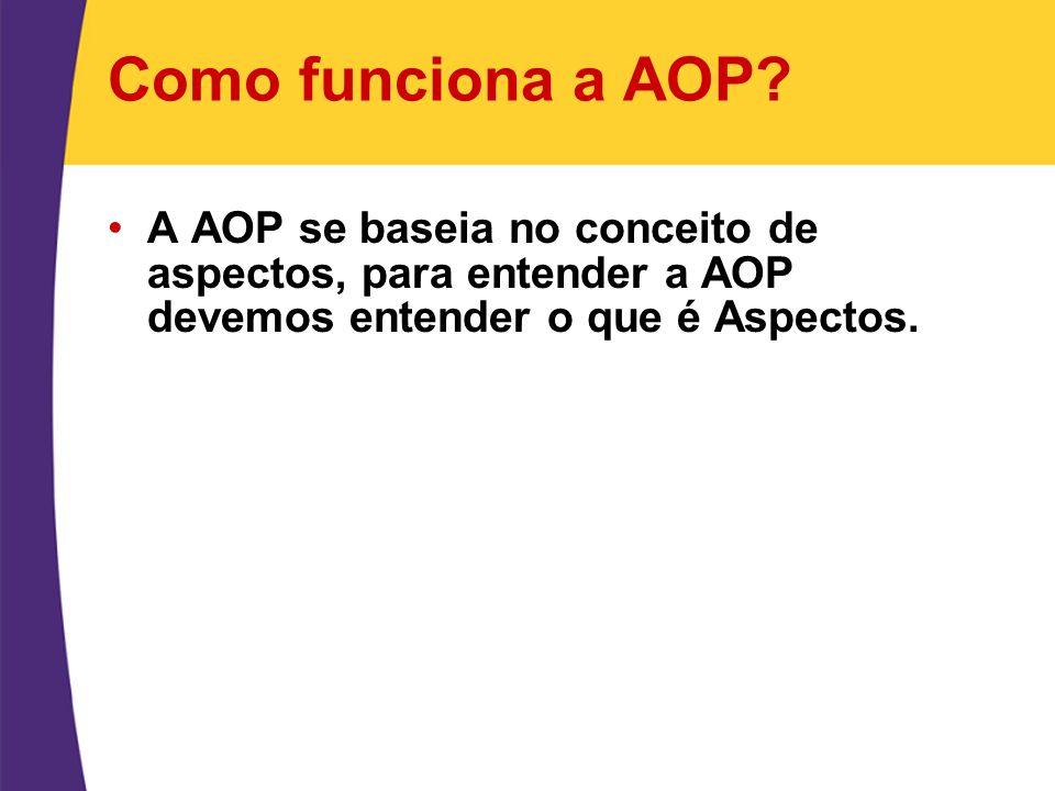 Como funciona a AOP.