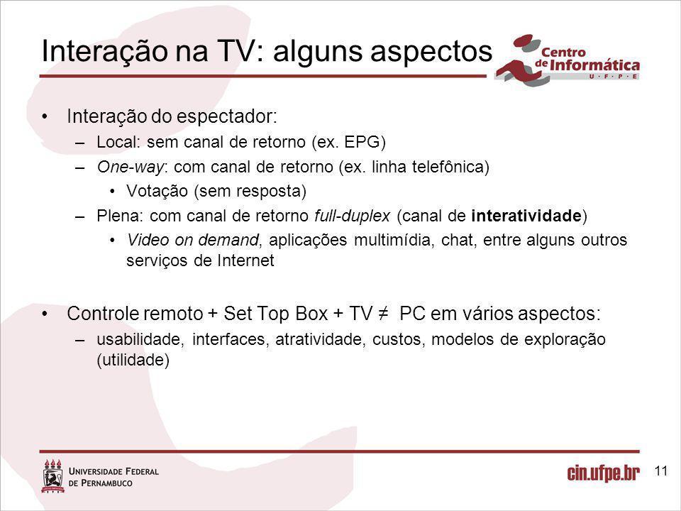 Interação na TV: alguns aspectos