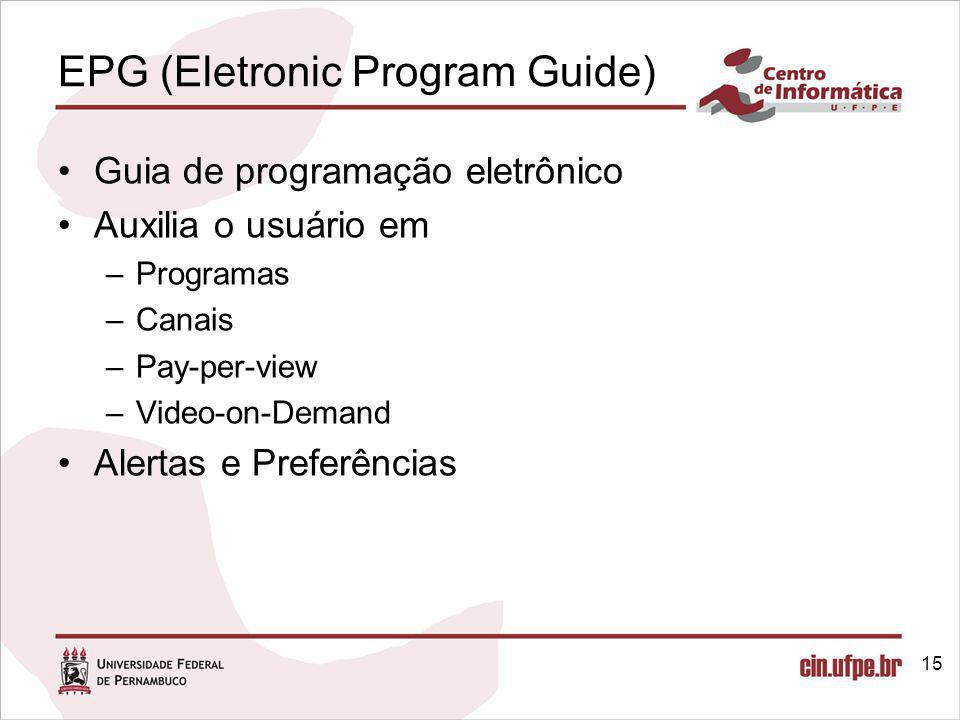 EPG (Eletronic Program Guide)