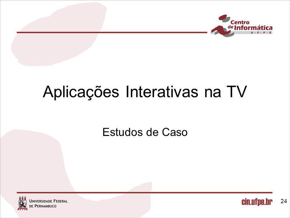 Aplicações Interativas na TV