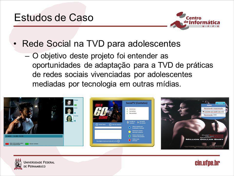Estudos de Caso Rede Social na TVD para adolescentes