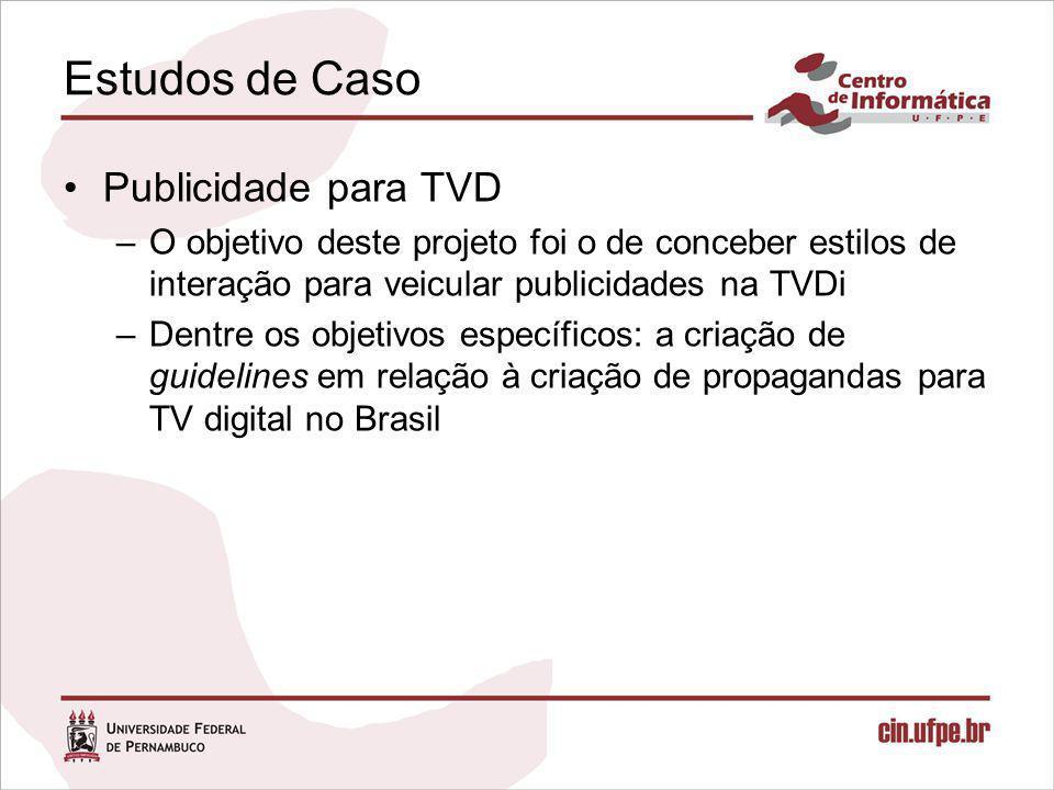 Estudos de Caso Publicidade para TVD