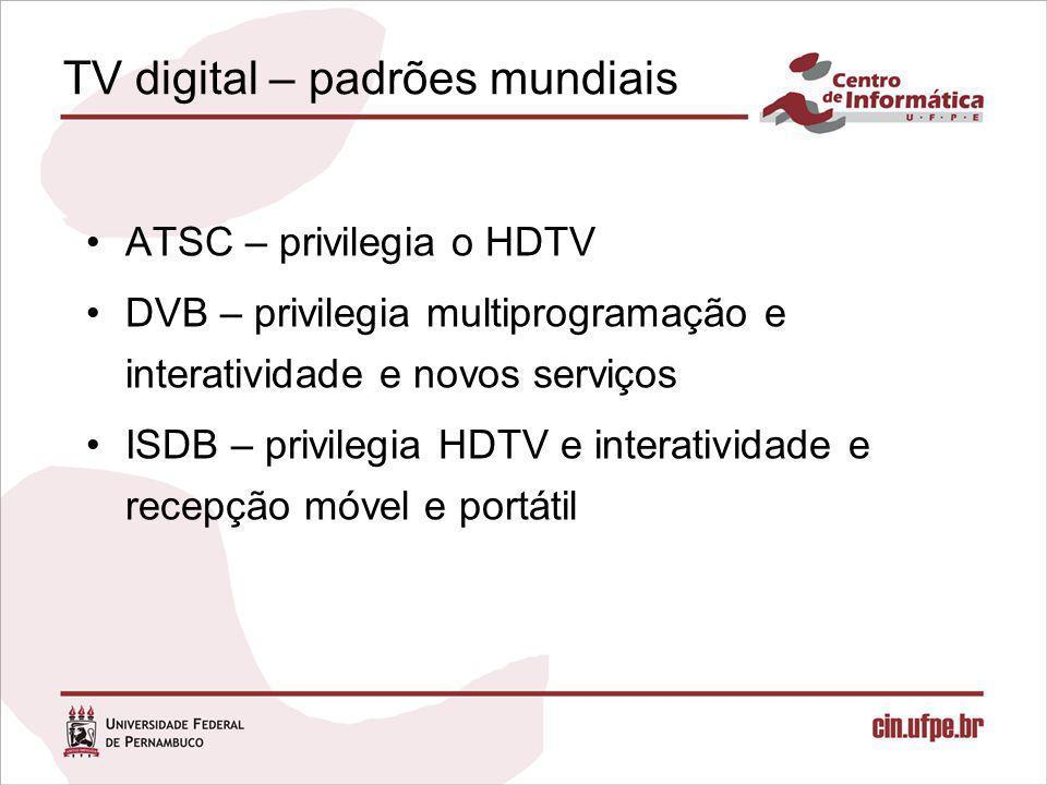 TV digital – padrões mundiais