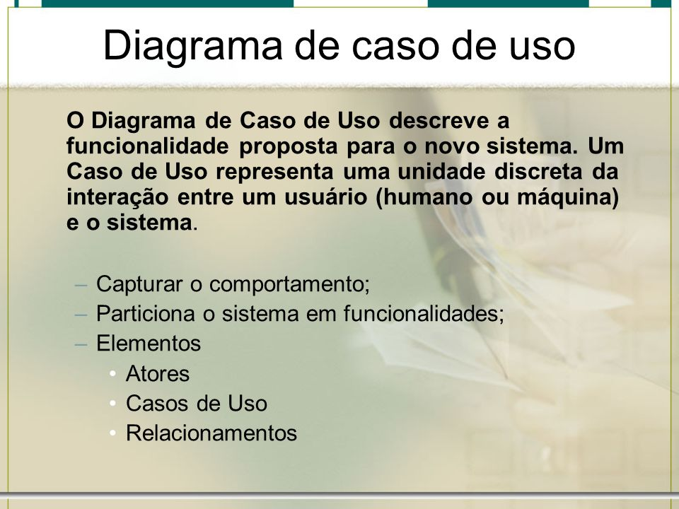 Diagrama de caso de uso