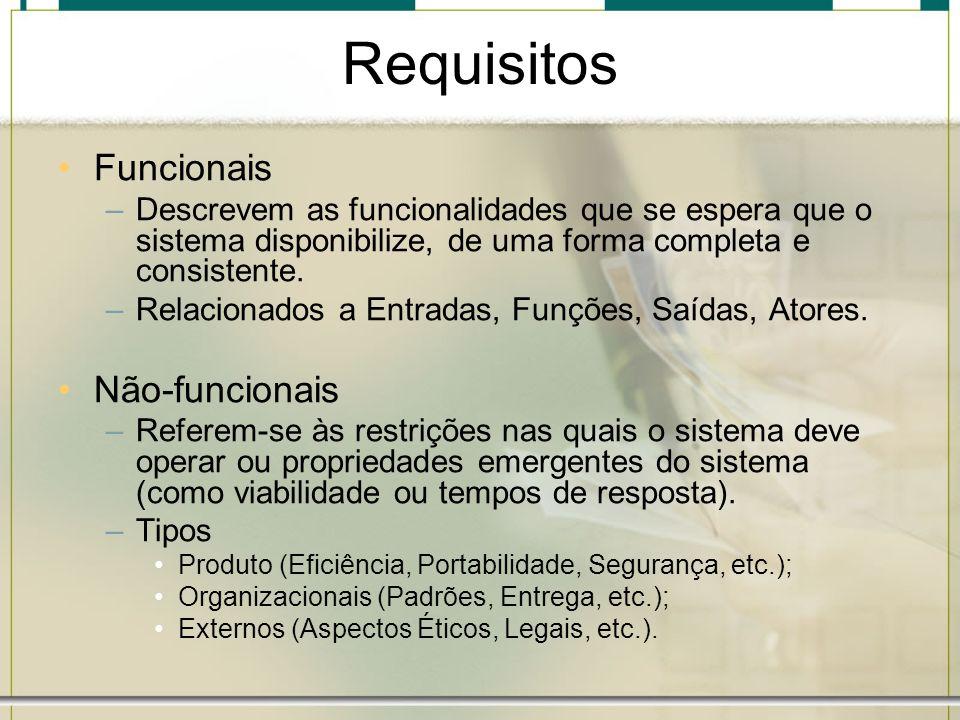 Requisitos Funcionais Não-funcionais