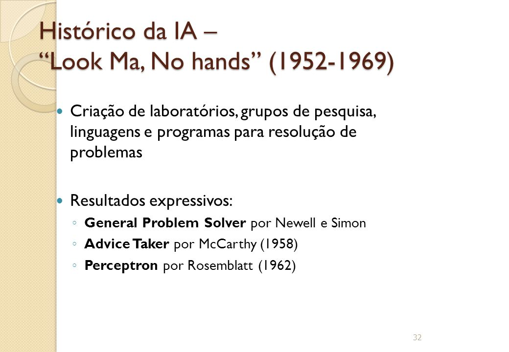 Histórico da IA – Look Ma, No hands (1952-1969)
