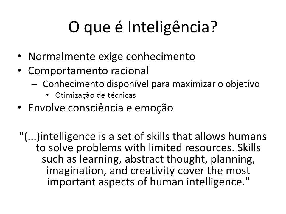 O que é Inteligência Normalmente exige conhecimento