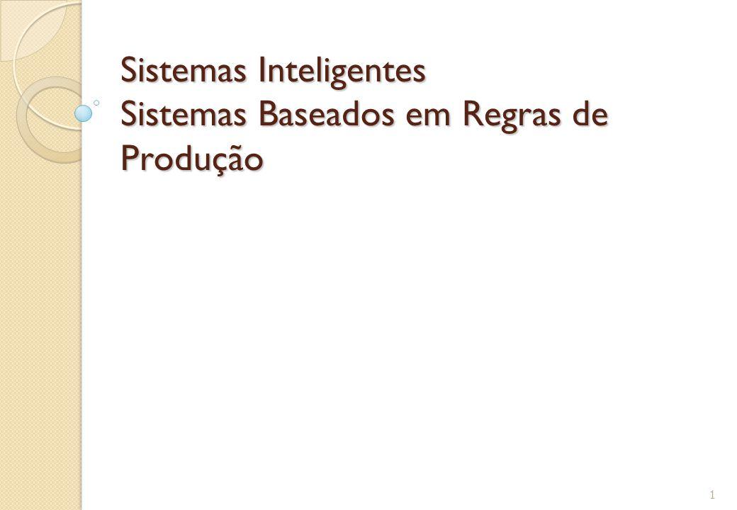 Sistemas Inteligentes Sistemas Baseados em Regras de Produção