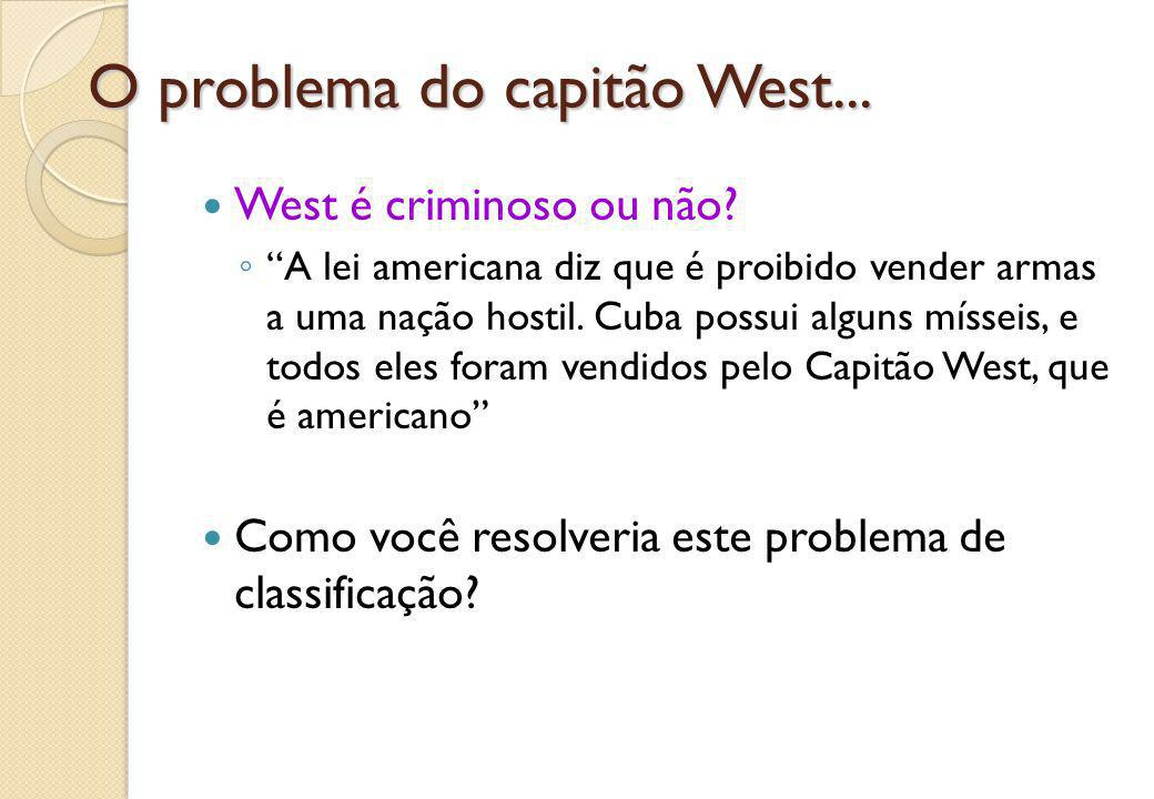 O problema do capitão West...