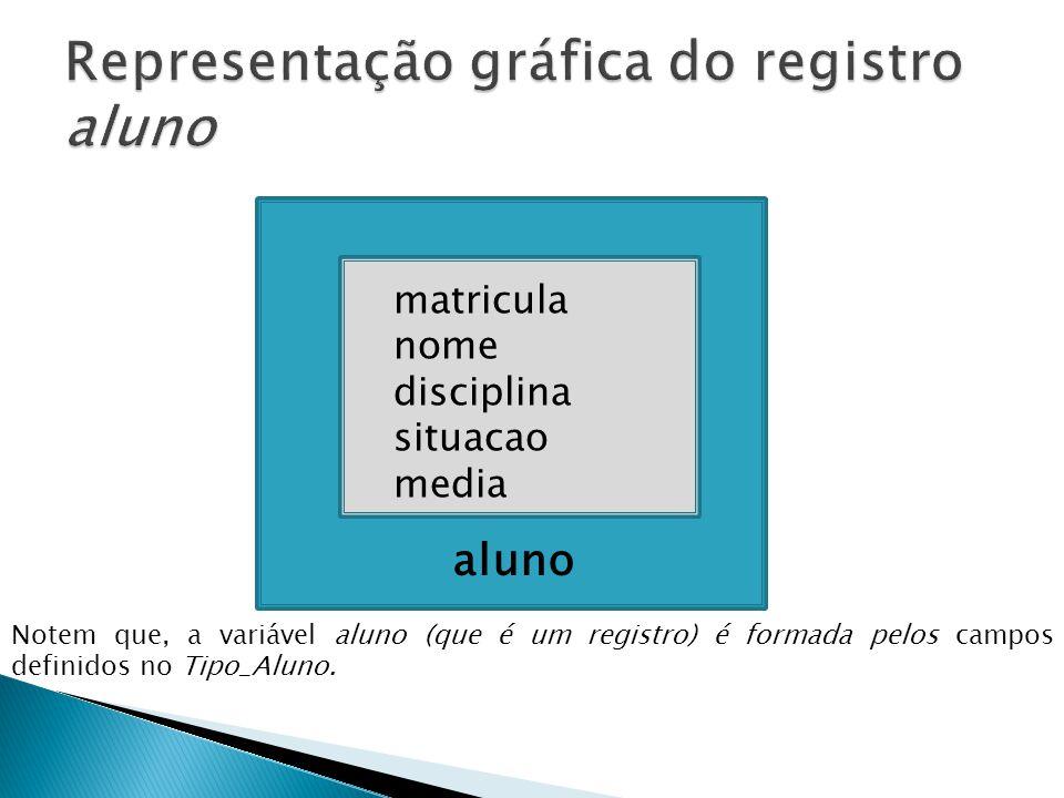 Representação gráfica do registro aluno