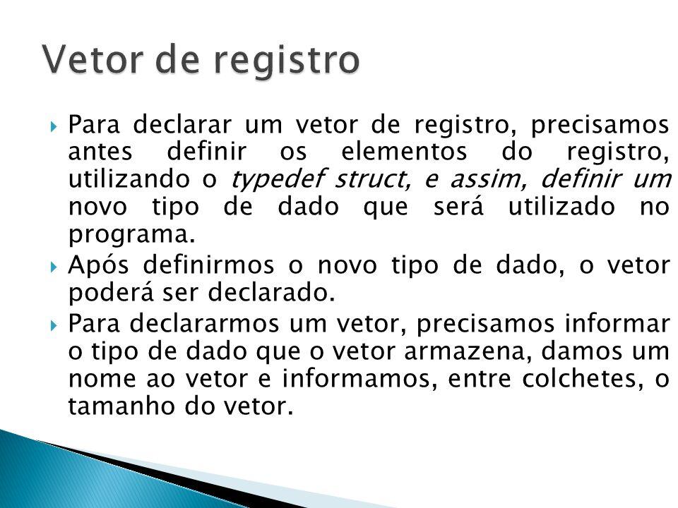Vetor de registro