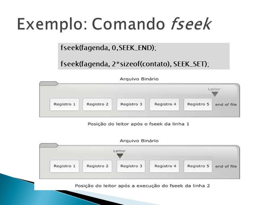 Exemplo: Comando fseek