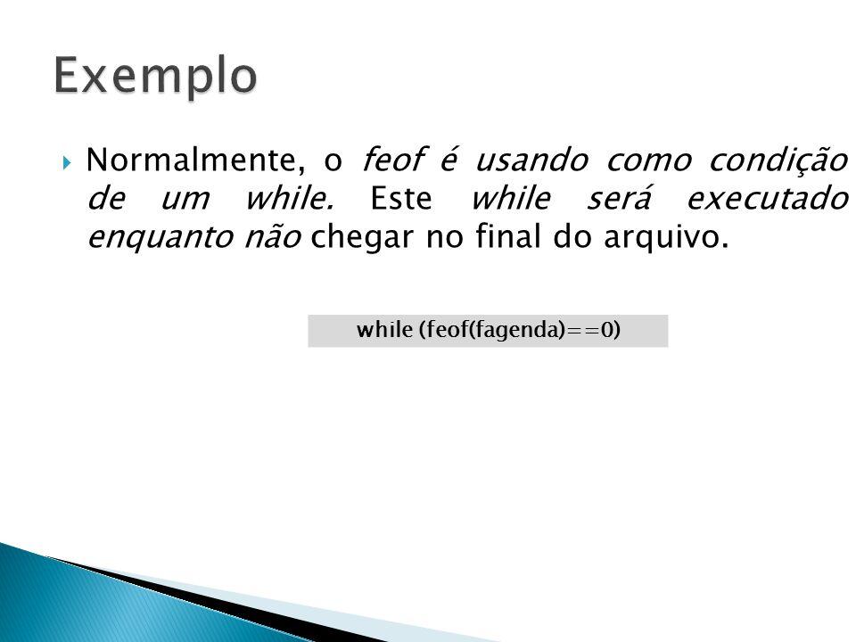 while (feof(fagenda)==0)