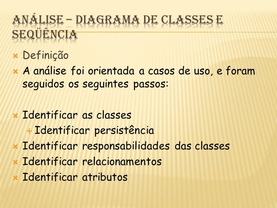 Análise – Diagrama de Classes e Seqüência
