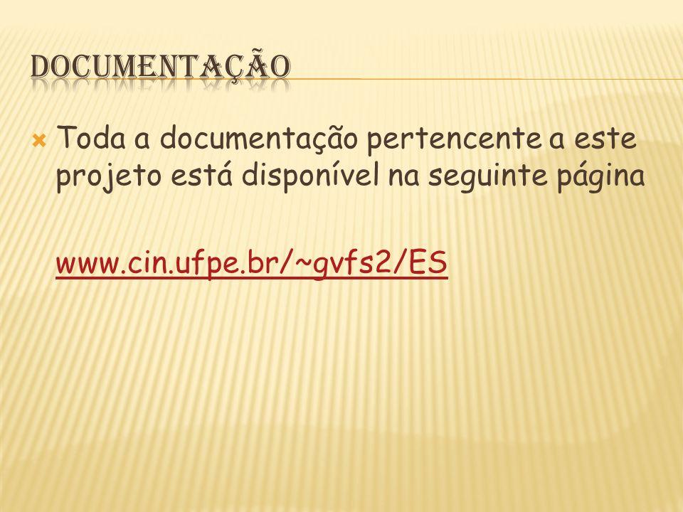 Documentação Toda a documentação pertencente a este projeto está disponível na seguinte página.