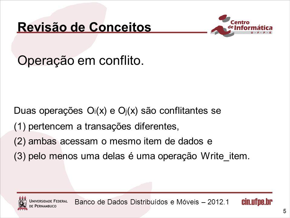 Duas operações Oi(x) e Oj(x) são conflitantes se