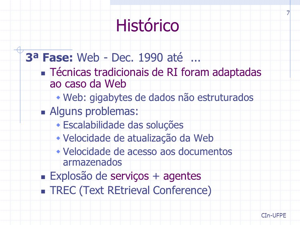 Histórico 3ª Fase: Web - Dec. 1990 até ...