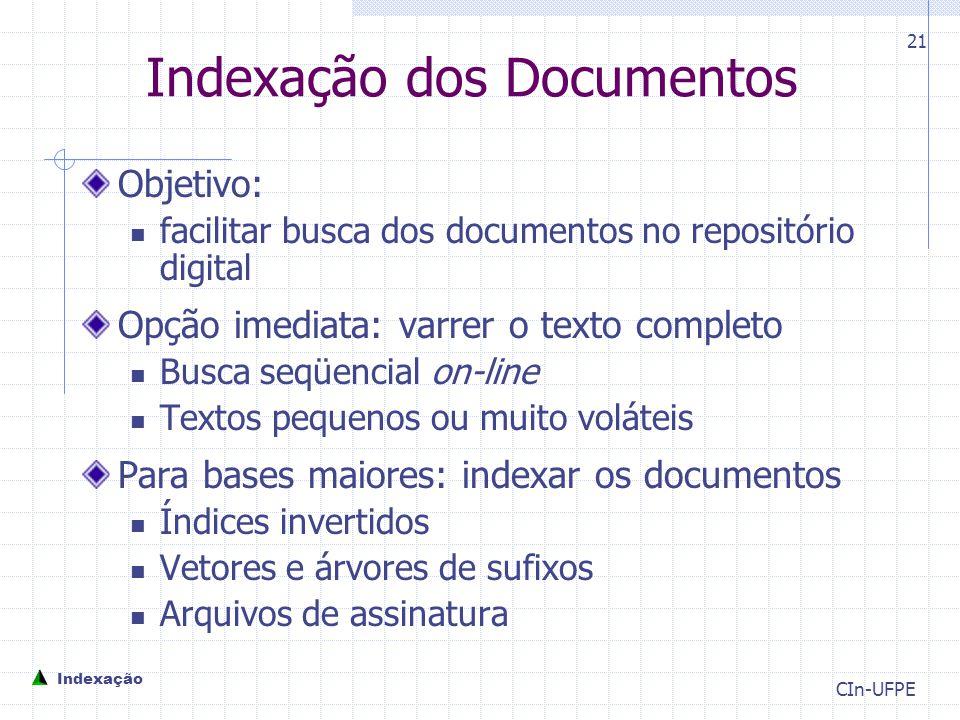 Indexação dos Documentos