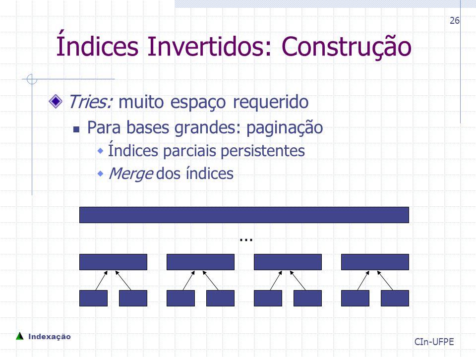 Índices Invertidos: Construção