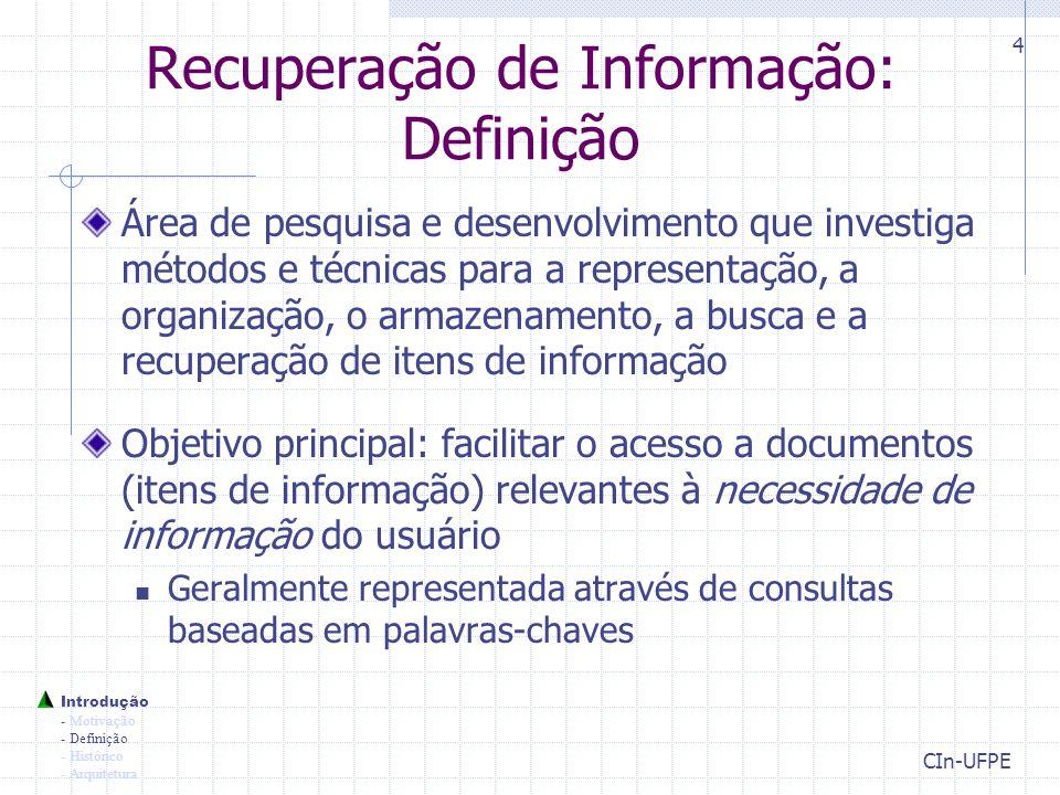 Recuperação de Informação: Definição