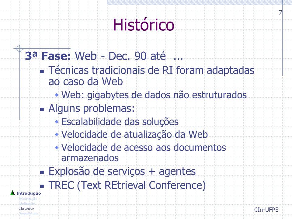 Histórico 3ª Fase: Web - Dec. 90 até ...