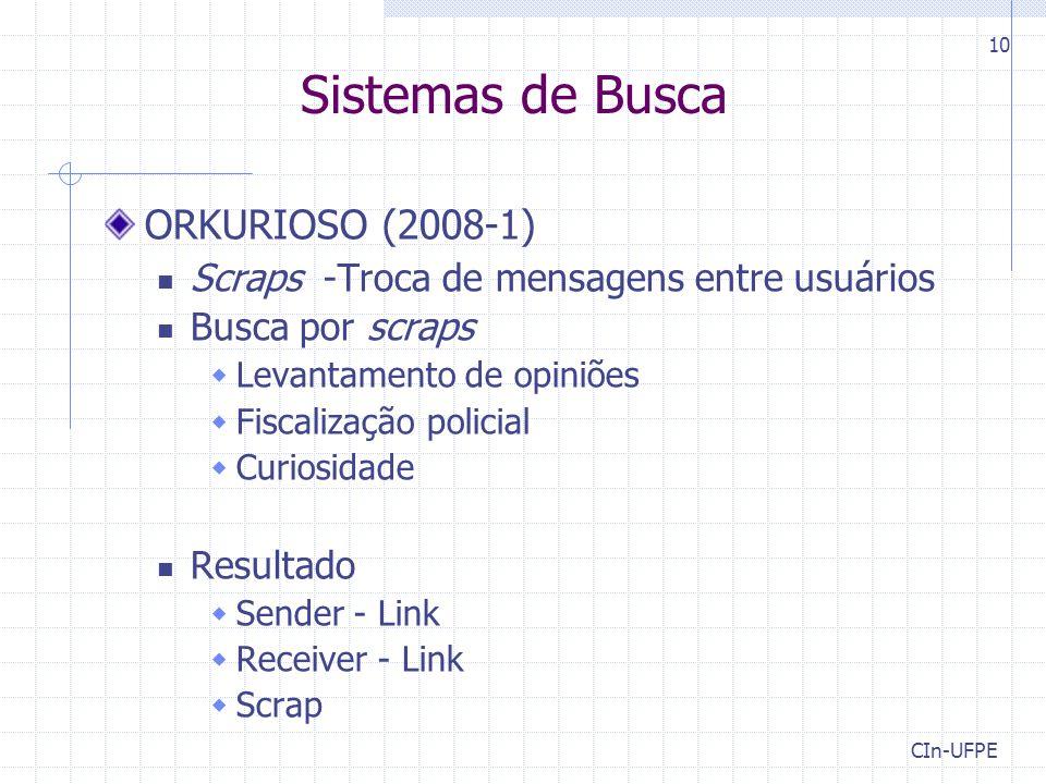 Sistemas de Busca ORKURIOSO (2008-1)