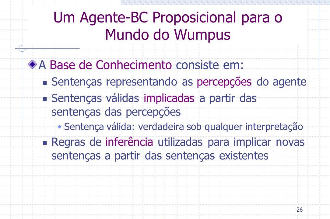 Um Agente-BC Proposicional para o Mundo do Wumpus