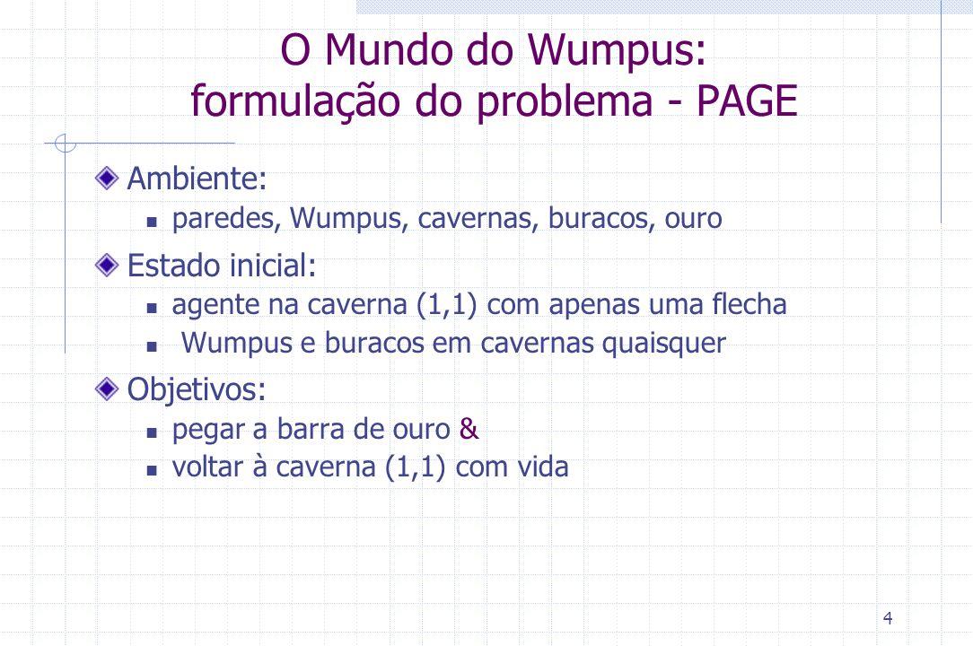 O Mundo do Wumpus: formulação do problema - PAGE