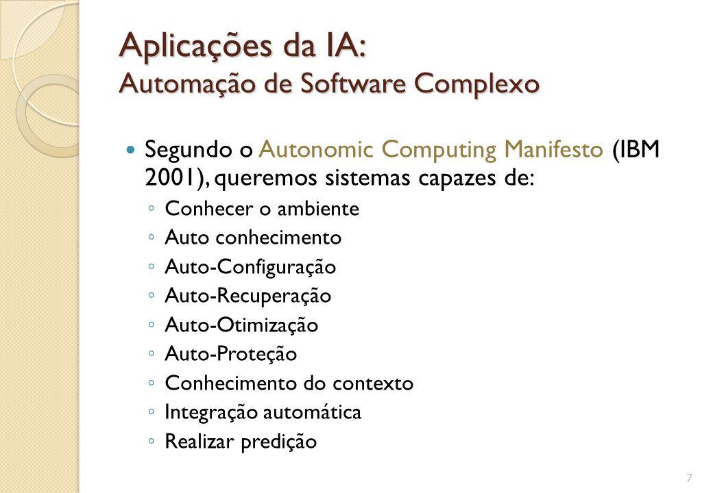 Aplicações da IA: Automação de Software Complexo