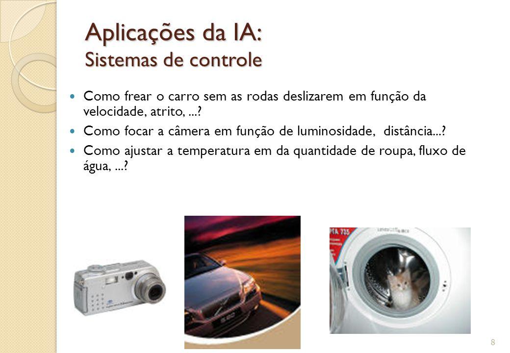 Aplicações da IA: Sistemas de controle