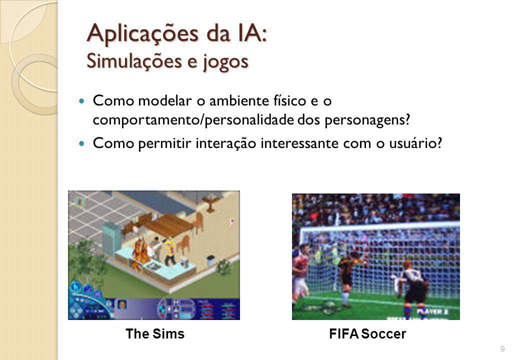 Aplicações da IA: Simulações e jogos