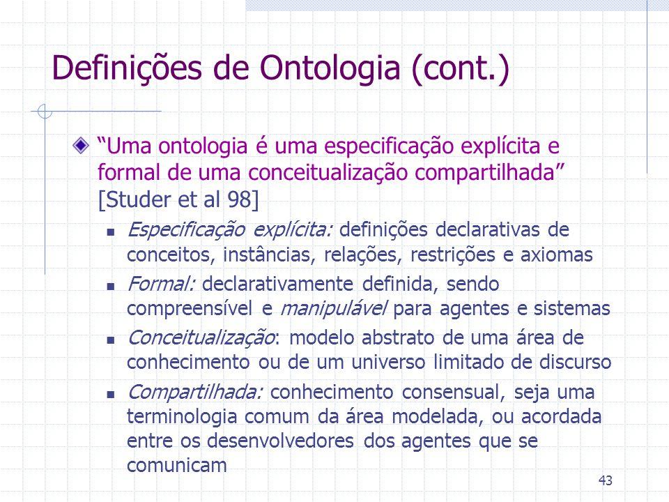 Definições de Ontologia (cont.)