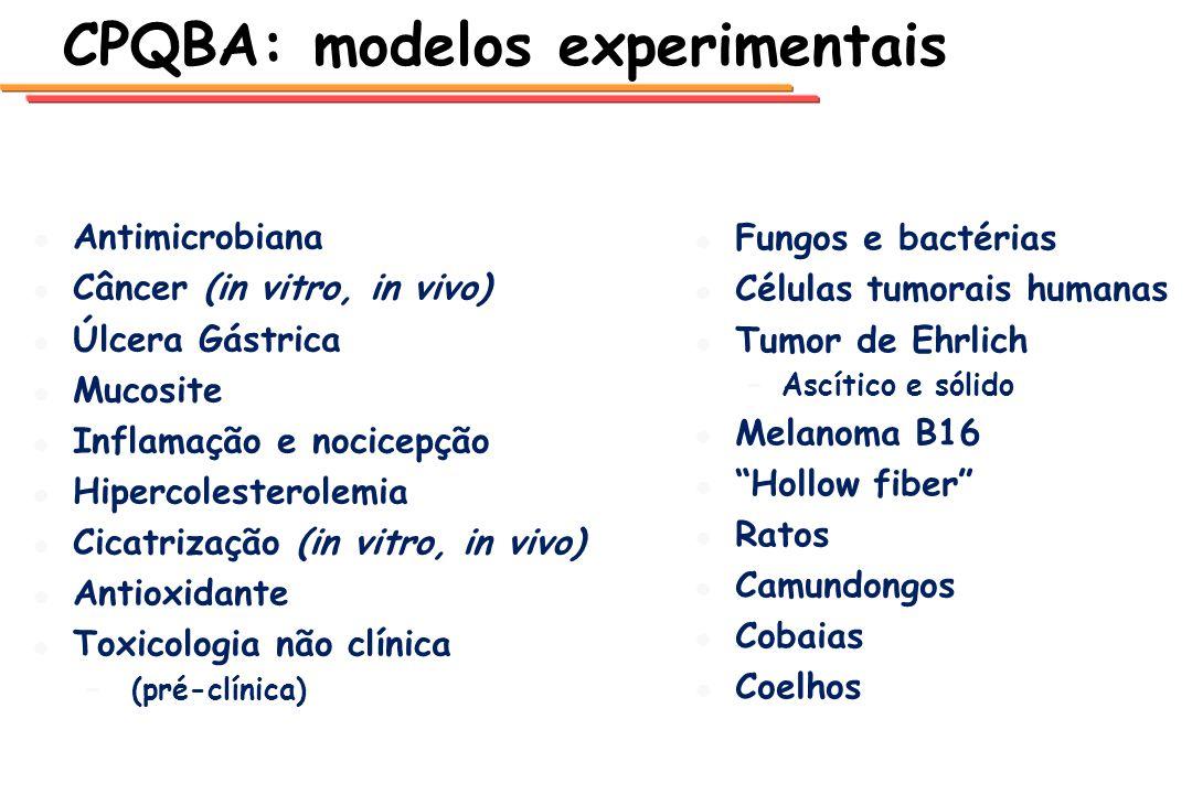 CPQBA: modelos experimentais