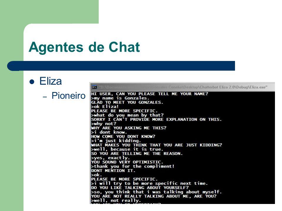 Agentes de Chat Eliza Pioneiro