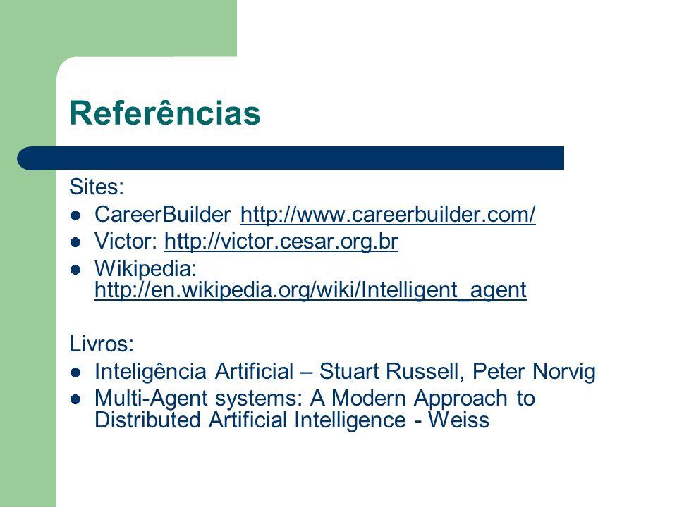 Referências Sites: CareerBuilder http://www.careerbuilder.com/