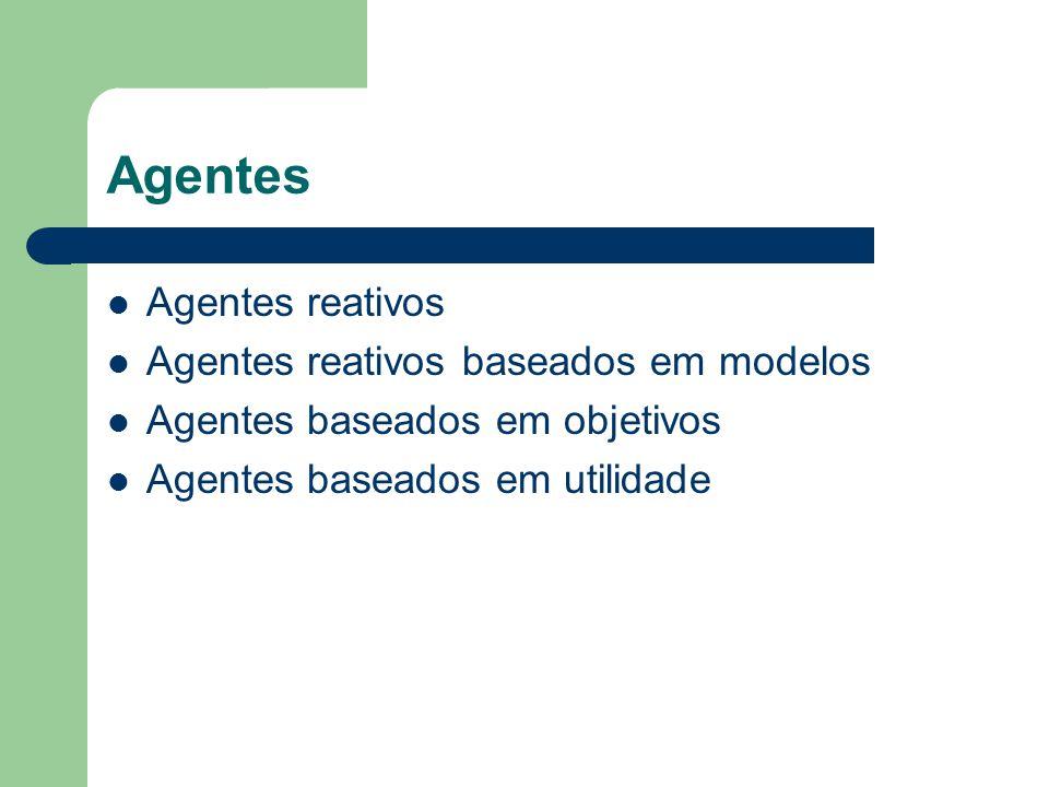 Agentes Agentes reativos Agentes reativos baseados em modelos
