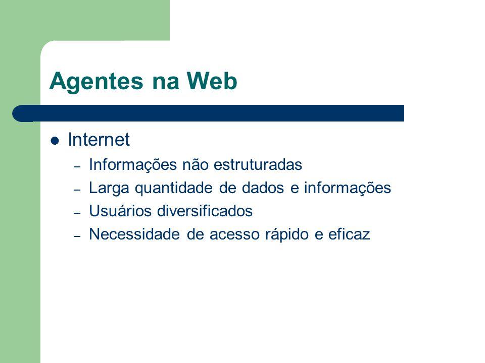 Agentes na Web Internet Informações não estruturadas
