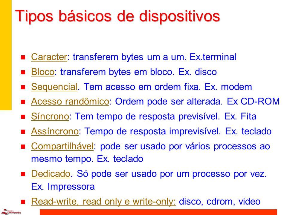 Tipos básicos de dispositivos
