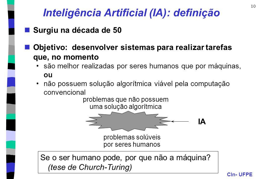 Inteligência Artificial (IA): definição