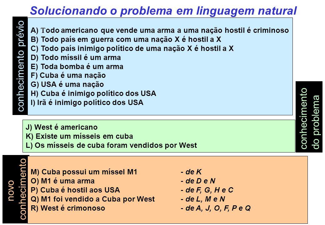 Solucionando o problema em linguagem natural