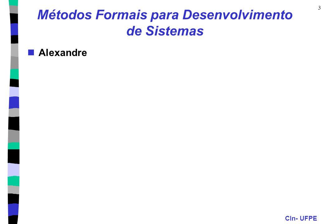 Métodos Formais para Desenvolvimento de Sistemas