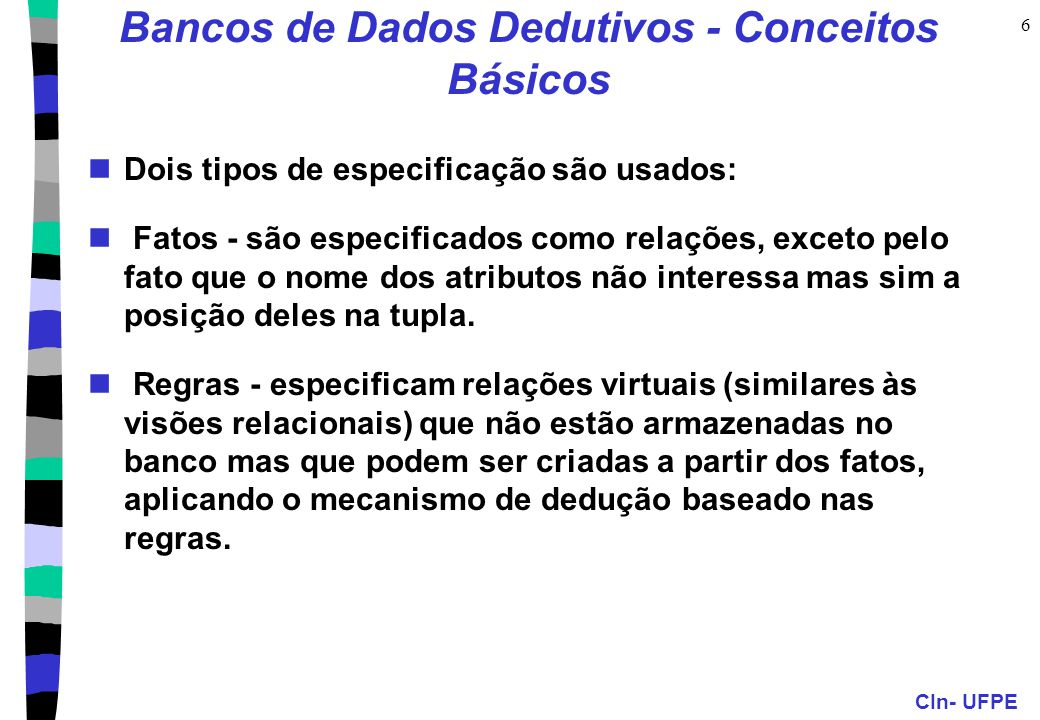 Bancos de Dados Dedutivos - Conceitos Básicos