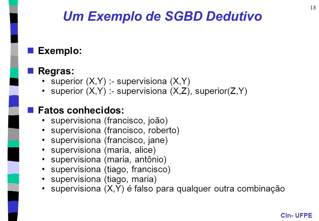 Um Exemplo de SGBD Dedutivo