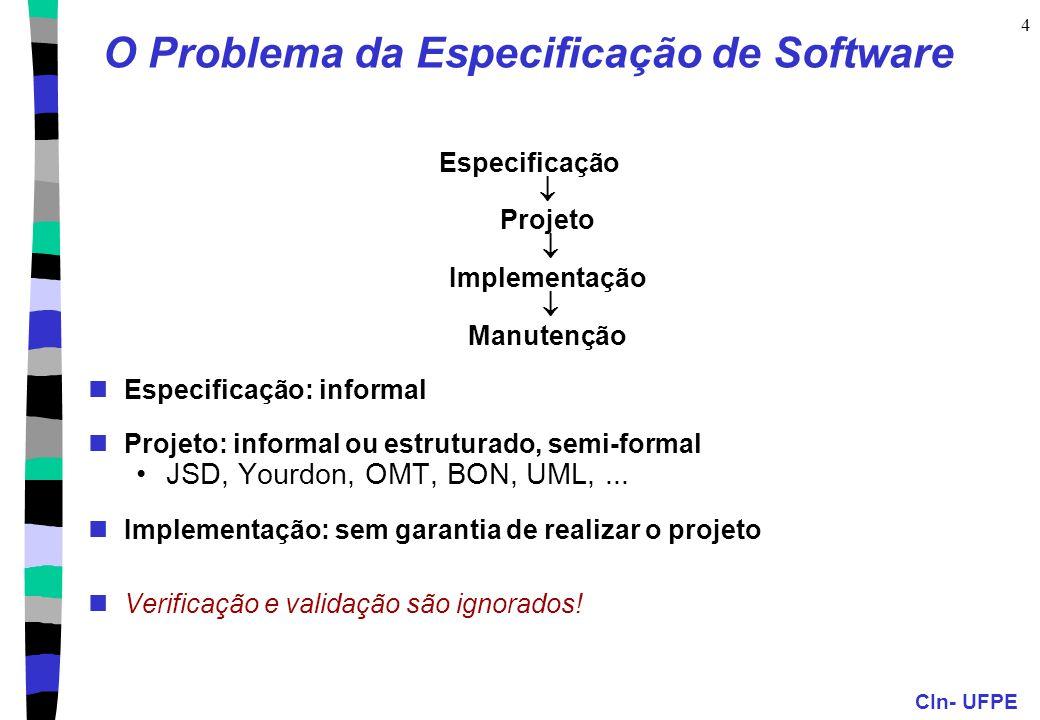 O Problema da Especificação de Software